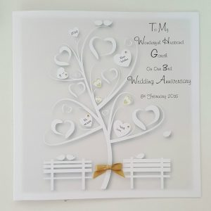 Personalised On Our 3rd Anniversary Card Husband Wife Any Relation, Year Or Colour (SKU277)