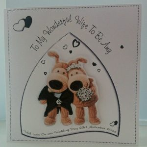 Personalised 8 x 8 On Our Wedding Day Card Husband Wife To be Boofle Design Any Colour