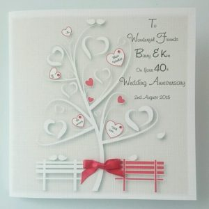 Personalised Wedding Anniversary Card Wonderful Friends Couple Any Relation Any Occasion Any Colour