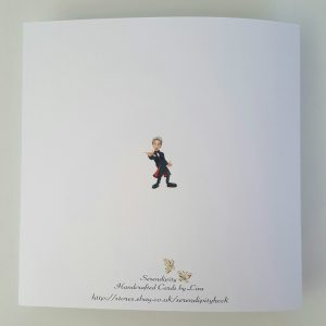 Personalised Valentines Card Doctor Dr Who Peter Capaldi Boyfriend Fiance Husband