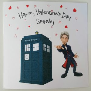 Personalised 8 x 8 Valentines Card Doctor Dr Who Peter Capaldi Boyfriend Any Person Any Occasion