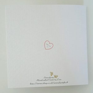Personalised Wedding Card Gay Marriage Civil Ceremony Same Sex Red ANY COLOUR