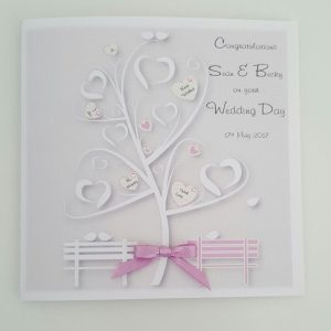 Personalised Wedding Card & Money Gift Wallet Dusky Pink / Mauve Engagement