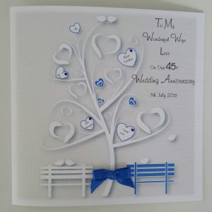 Stunning Personalised On Our Sapphire Wedding Anniversary Card Wife Husband Any Relation Any Occasion Any Colour
