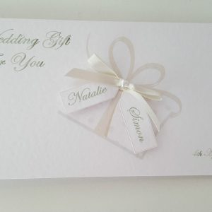Stunning Personalised Wedding Day Card  & Matching Gift Money Wallet Any Event