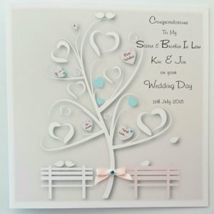 Personalised Wedding Day Card Sister Brother In Law Any Couple, Occasion Or Colour (SKU285)