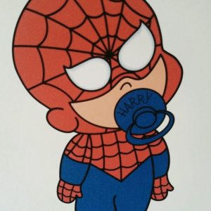 Personalised 8 x 8 New Baby Boy Card Spiderman Theme Twins Triplets Any Relation Any Occasion