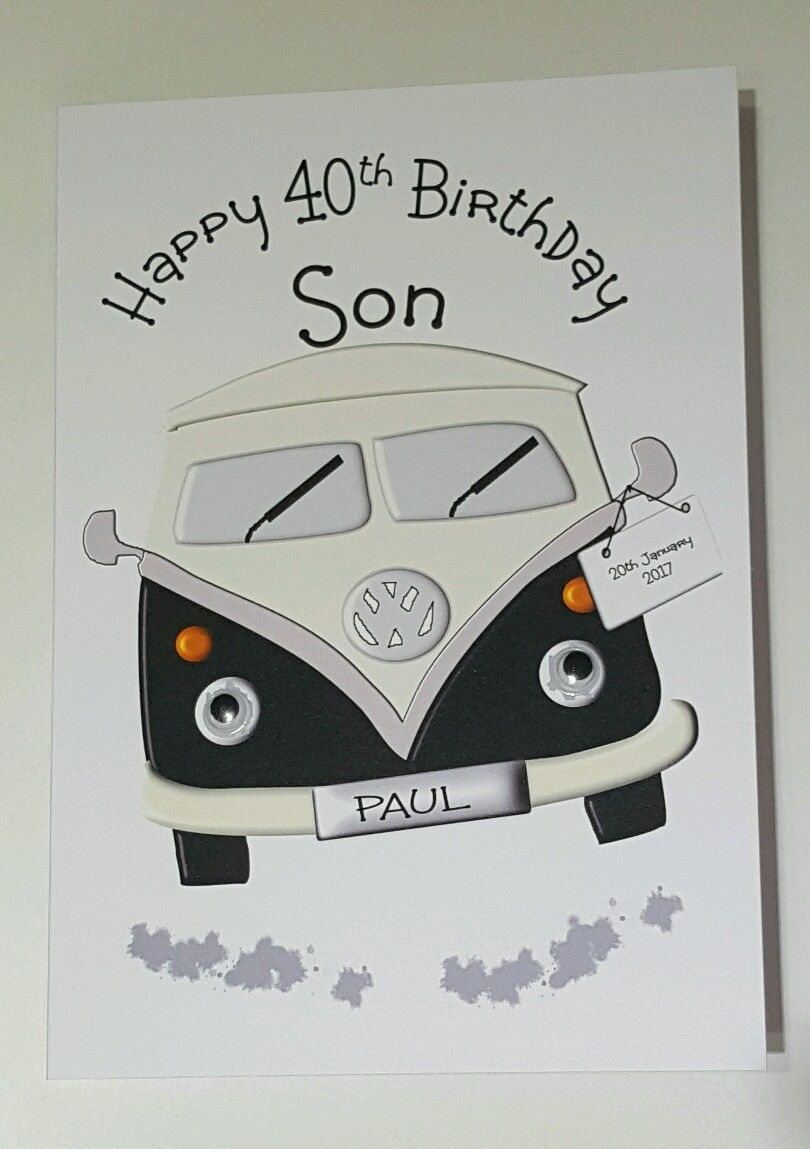 Handmade Personalised Son 40th Birthday Card