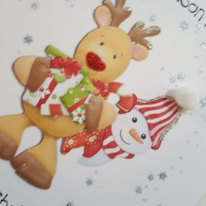 Personalised 1st Christmas Card Grandson Son Any Relation (SKU438)