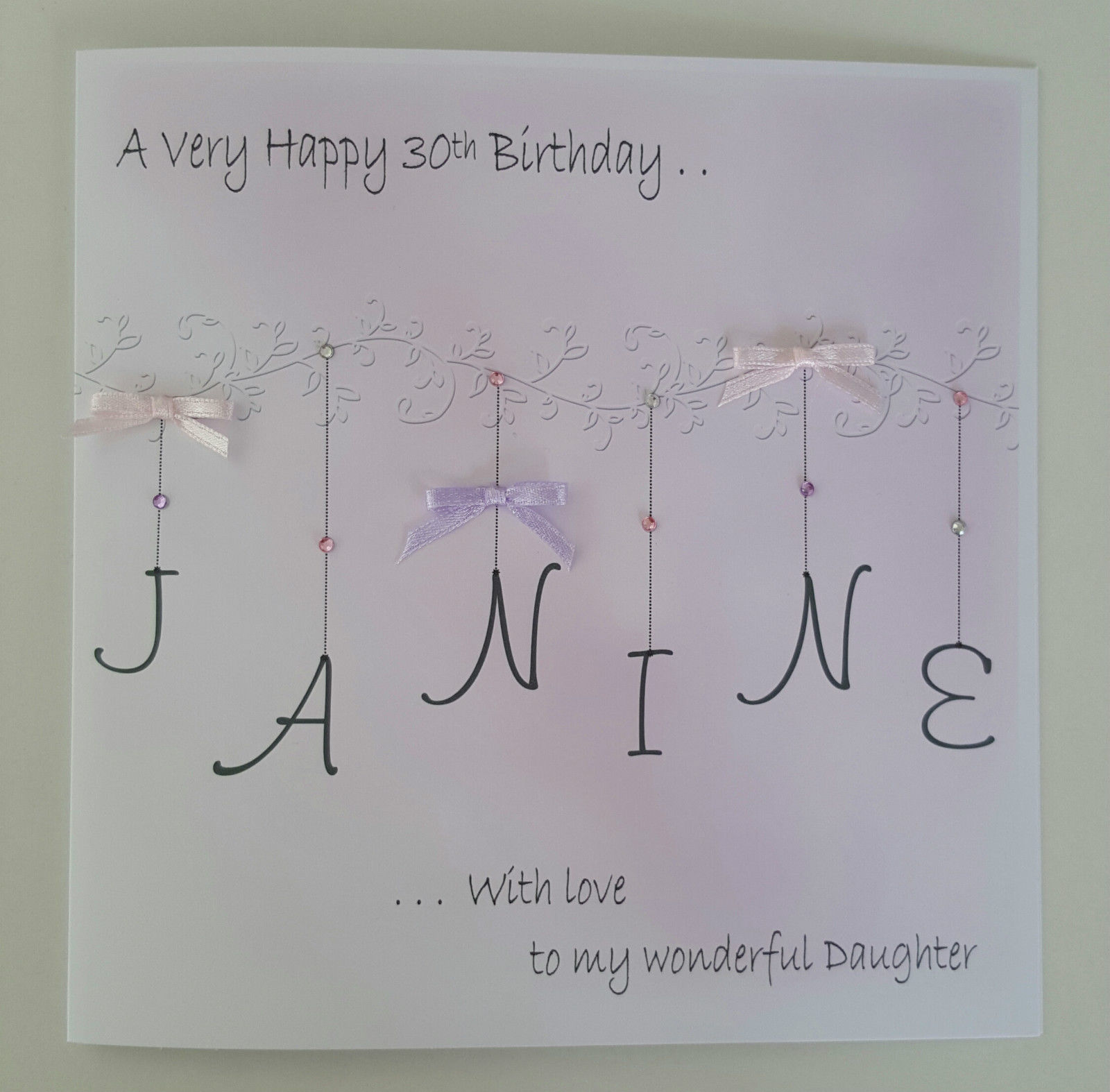 LARGE PERSONALISED 30TH BIRTHDAY CARD DAUGHTER 13TH