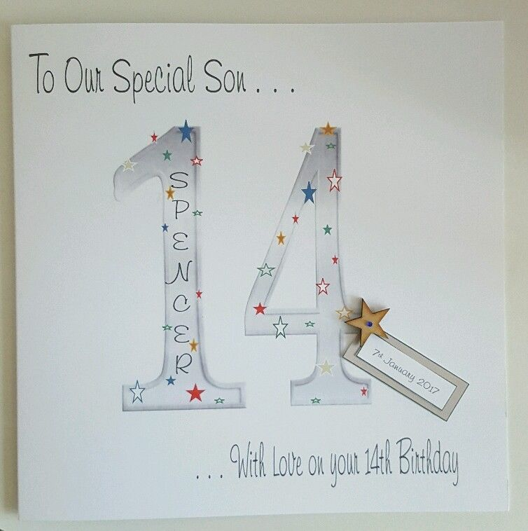 Large Personalised 14th Birthday Card Son Cousin Grandson 10th 11th 12th 13th