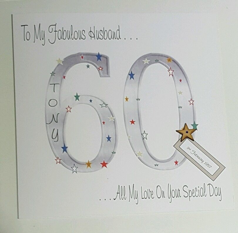 Large Personalised 60th Birthday Card