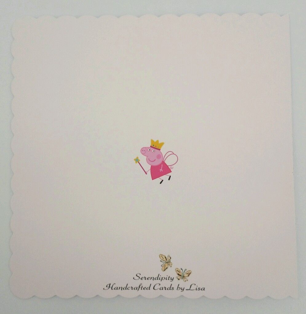 Personalised 1st Birthday Card Peppa Pig Granddaughter Daughter Neice 2nd 3rd
