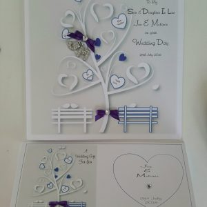Personalised Wedding Card Son Daughter In Law Any couple, Occasion or Colour (SKU281)