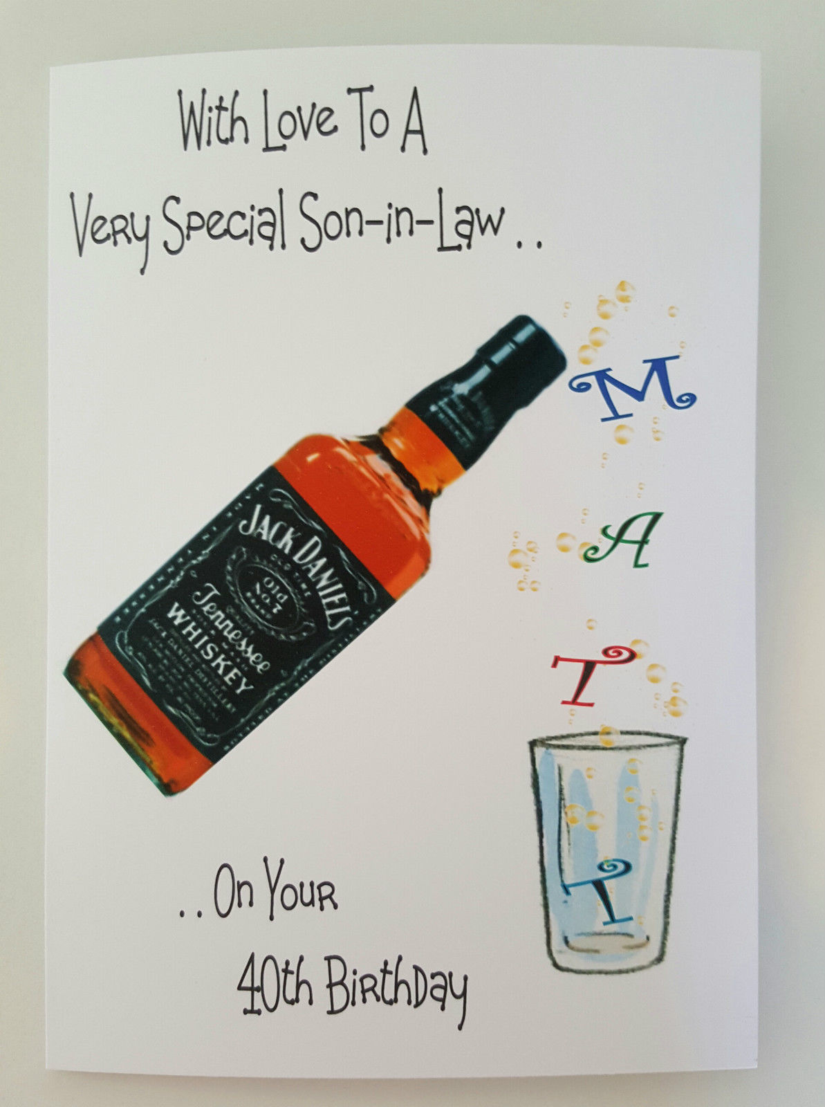 Personalised Birthday Card Son In Law 40th