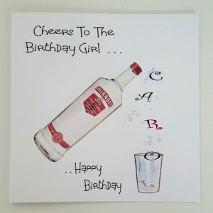 Personalised Birthday Card Card Vodka Theme Any Bottle Or Person Male Or Female (SKU764)