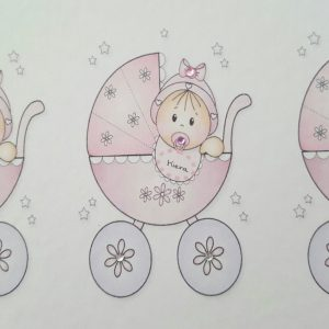Personalised Card  Twins Triplets Christening Day New Baby Girl or New Baby Boy