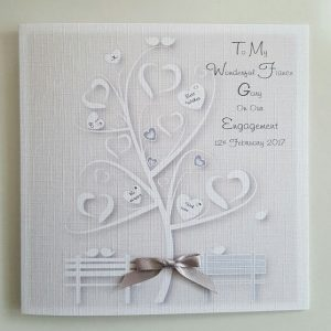 Personalised Our Engagement Card Girlfriend Boyfriend Fiance Fiancee Any Colour