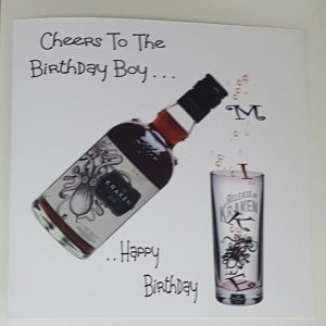 Personalised Birthday Card Son In Law Brother Any Relation Any Age Any Tipple