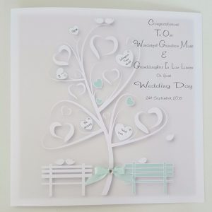 Personalised Wedding Card Grandson Granddaughter Any Relation Or Colour (SKU812)