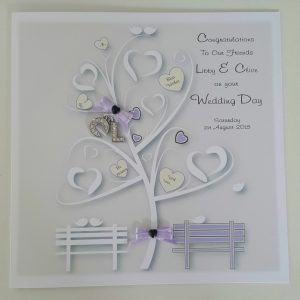 Personalised Lilac Wedding Day Card LGBT Any Couple Or Colour (SKU287)