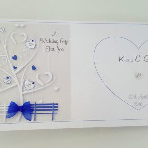 Personalised Royal Blue Wedding Day Card Any Event Or Colour (SKU371)