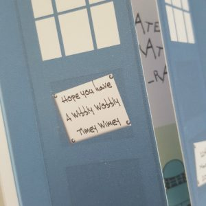 Personalised 3D Dr Who Tardis 16th Birthday Card Any Person, Age Or Occasion (SKU725)