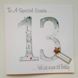 Large Personalised 13th Birthday Card Cousin Grandson Son Nephew Godson Any Age