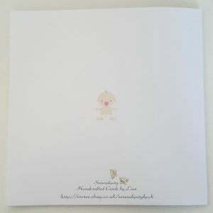 Large Personalised Birth of New Baby Card – Girl Boy Twins Triplets Any Colour