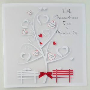 Personalised 8×8 Valentines Day Card Husband Lover Any Person Any Occasion Any Colour