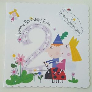 Personalised 2nd Birthday Card Ben And Hollies Little Kingdom Granddaughter Son