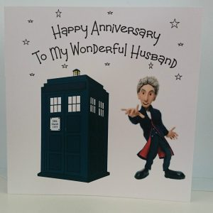 Personalised Anniversary Card Doctor Dr Who Peter Capaldi Husband Large