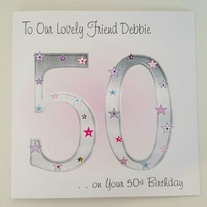 Personalised Birthday Card Auntie Friend Neighbour 40th 50th 60th 70th 80th