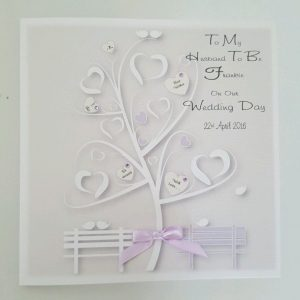Personalised On Our Wedding Day Card Husband Wife To Be Any Relation Any Occasion Any Colour