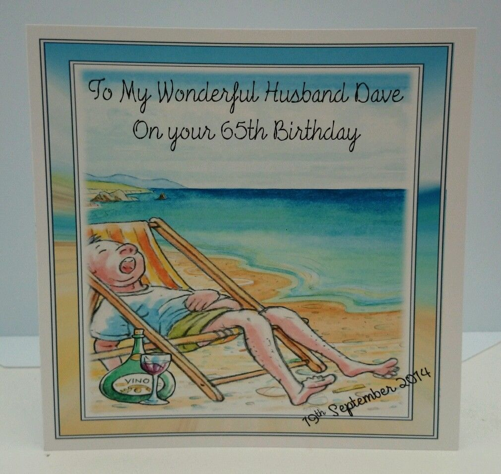 Personalised 7 X 65th Birthday Card Husband