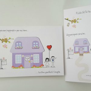 Personalised New House / Moving Home Card & Matching Money Gift Wallet