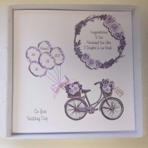 Personalised Wedding Bicycle Card Daughter Son In Law Any Relation Any Colour
