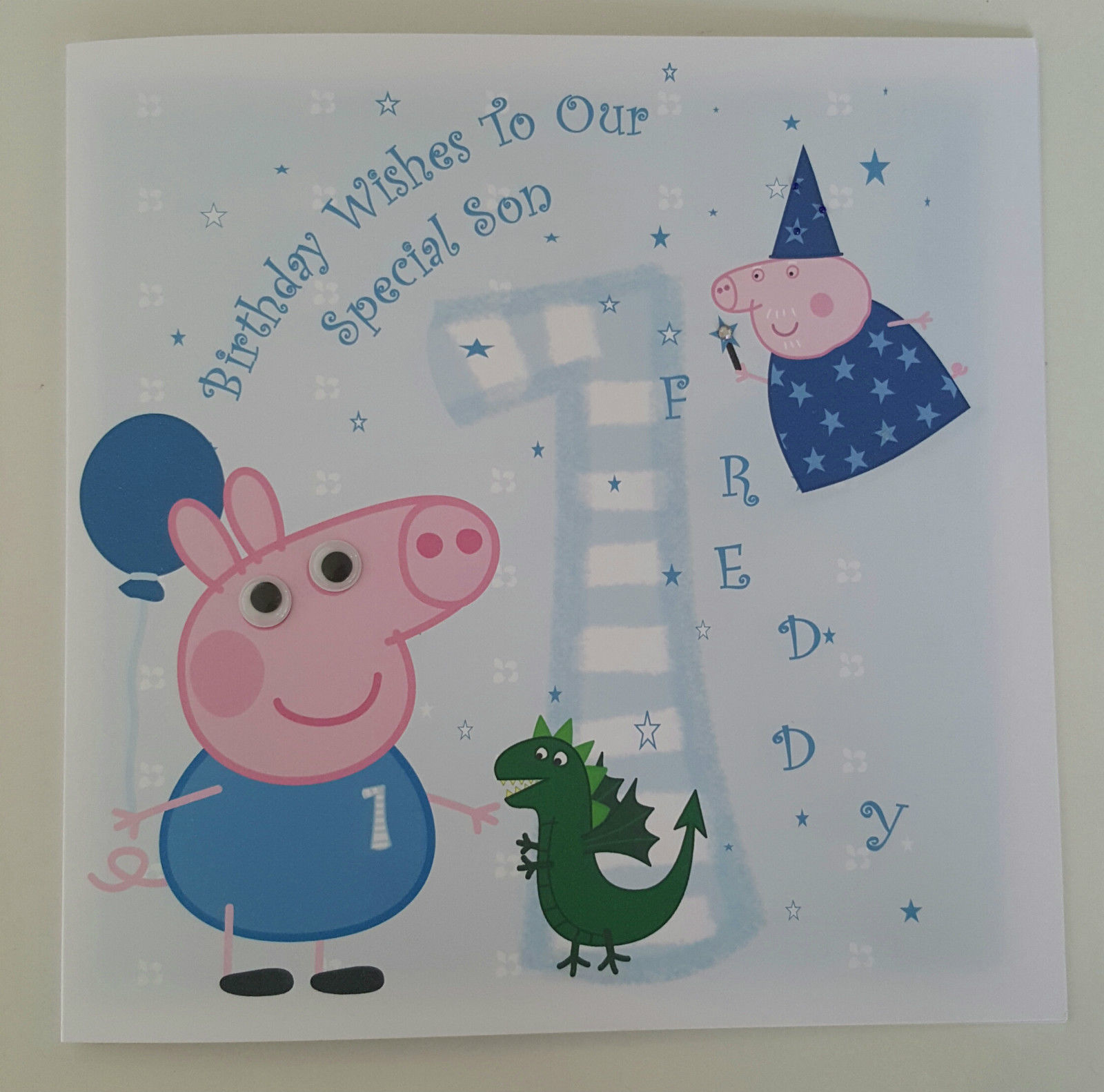 Large Personalised 1st Birthday Card
