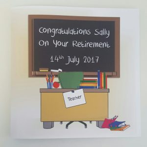 Personalised Teacher Retirement Card Any Person Or Occasion (SKU267)