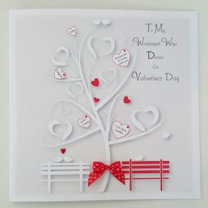 Personalised 8×8 Valentines Day Card Wife Any Person Any Occasion Any Colour