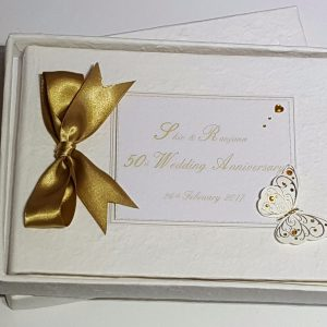 **PERSONALISED GUEST BOOK 25TH 30TH 40TH 50TH 60TH WEDDING ANNIVERSARY ENGAGEMENT