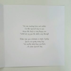 Personalised 40th Birthday Card Cousin Friend Mum Sister Auntie Any Age Colour