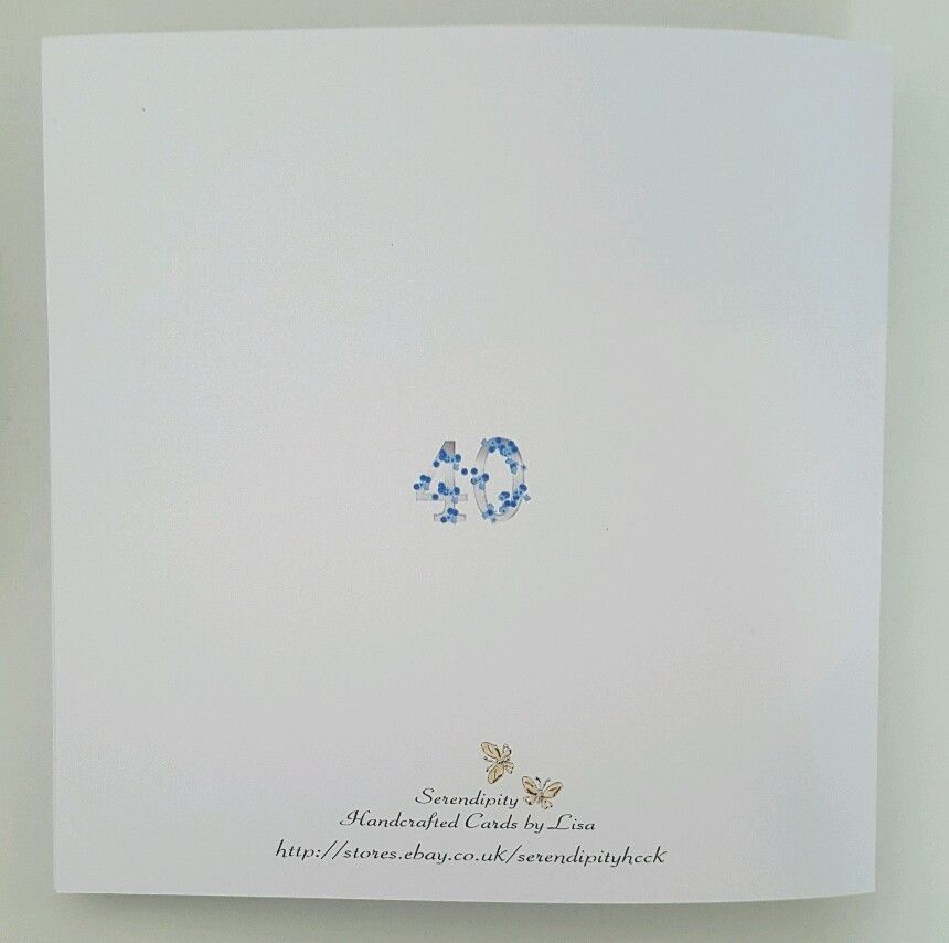 Personalised 40th Birthday Card Cousin Friend Mum Sister