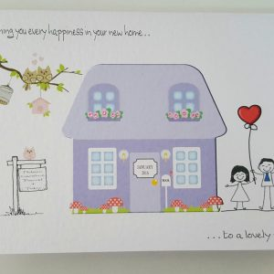 Personalised Moving Home / New House Card & Matching Money Gift Wallet