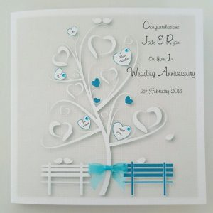 Personalised Wedding Anniversary Card Any Relation Any Occasion Any Colour