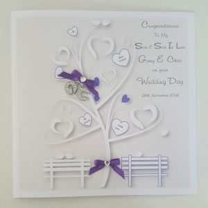 Personalised Wedding Day Card Son & Son In Law LGBT Any Couple Or Colour (SKU280)