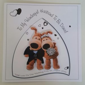 Personalised Husband Or Wife On Your Wedding Day Boofle Card Any Colour Scheme (SKU774)