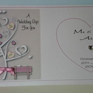 Personalised Wedding Day Card and Matching Money Wallet  Sister & Brother In Law  Any Relation Any Colour (SKU821)