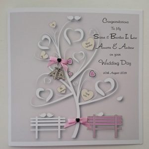 Personalised Wedding Day Card and Matching Money Wallet Any Colour Boxed Option