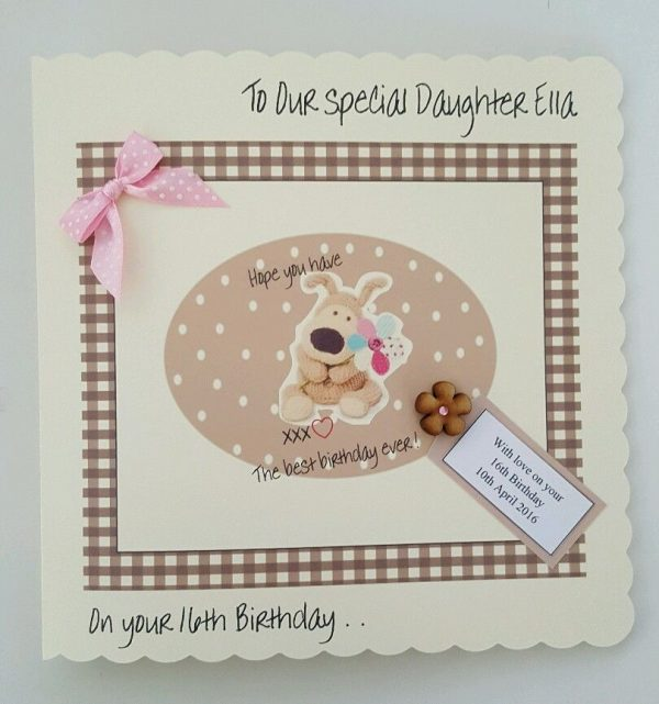 LARGE Personalised Boofle Birthday Card Daughter 16th